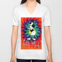 wiz khalifa V-neck T-shirts featuring GEE WIZ! by TheFrizzKid