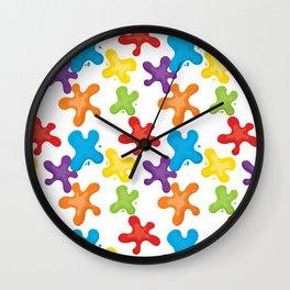 Paint splatters Wall Clock