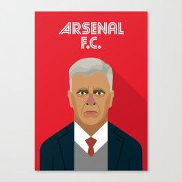 Arsène Wenger Arsenal FC Manager Canvas Print