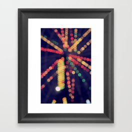 At the Show Bokeh Framed Art Print