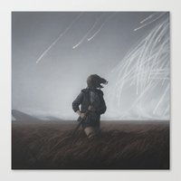 dragons Canvas Prints featuring Dragons by yurishwedoff