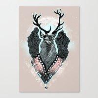 wind Canvas Prints featuring Wind:::Deer by Süyümbike Güvenç
