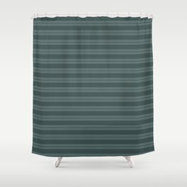 Night Watch PPG1145-7 Horizontal Stripes Pattern 1 on Juniper Berry Green PPG1145-6 Shower Curtain