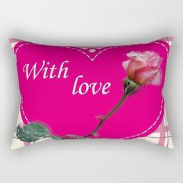 rose with love Rectangular Pillow