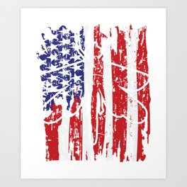 4th of July Dragonfly Independence Art Print