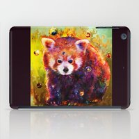 red panda iPad Cases featuring red panda by ururuty