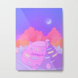 Pastel Capsule Corp Metal Print