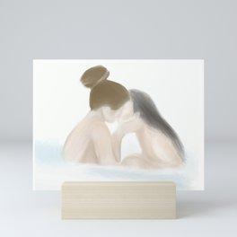 Bathtub Lovers Mini Art Print