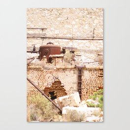 253. Abandoned Factory, Greece Canvas Print