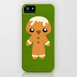 Christmas Card - Gingerbread Kid iPhone Case