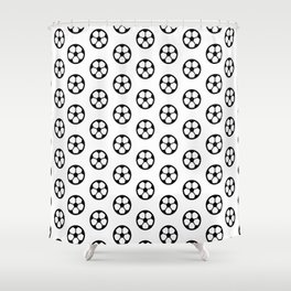 Simple Soccer Ball Motif Pattern Shower Curtain