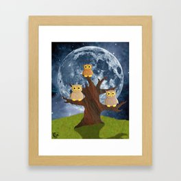 Owling at the Moon Framed Art Print