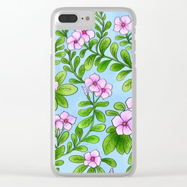 Chocolata floral pattern Clear iPhone Case