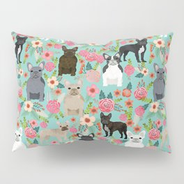 Frenchie floral french bulldog cute pet gifts dog breed must haves florals french bulldogs Pillow Sham