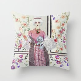 """ lily and rose love flowers"" Throw Pillow"