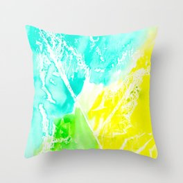 Resist Leaves Throw Pillow