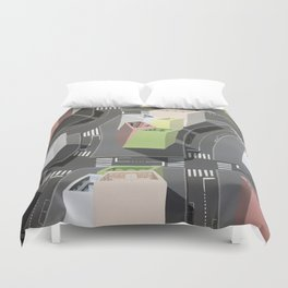 Inside-out - urban living Duvet Cover