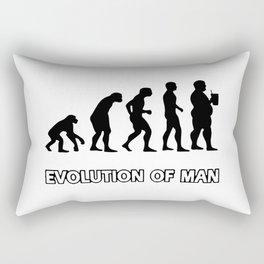 evolution man beer Rectangular Pillow
