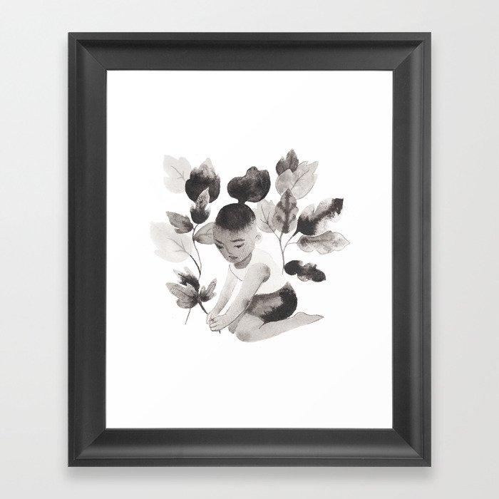 Planting Framed Art Print