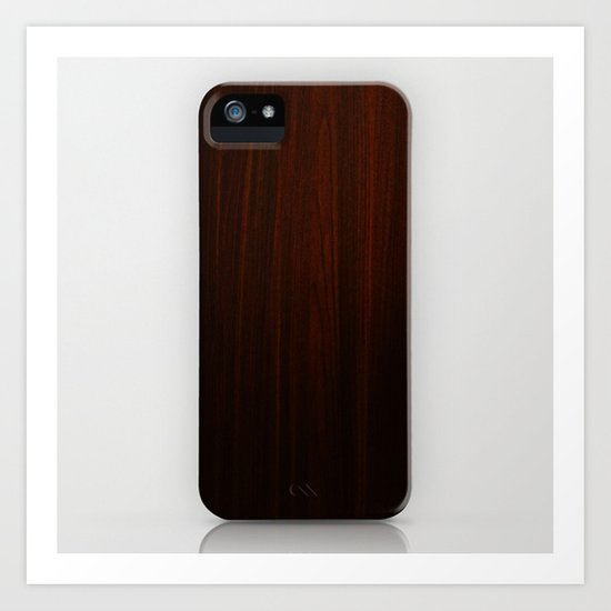 Wooden case Art Print