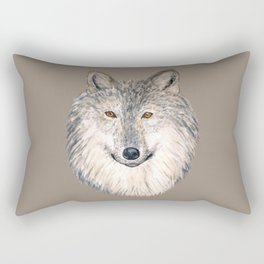 Grey Wolf Rectangular Pillow