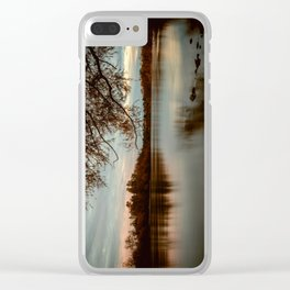 Subdued Sunset on the Sacramento River Clear iPhone Case