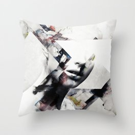 Abstract sections of beauty Throw Pillow
