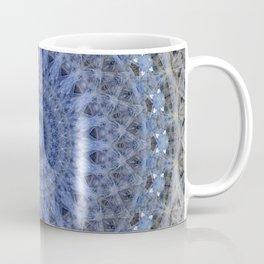 Gray and blue mandala Coffee Mug