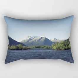 Deep blue mountainous sunset Rectangular Pillow
