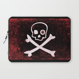 Jolly Roger With Eyeballs Laptop Sleeve