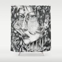 grand theft auto Shower Curtains featuring Auto-réclusion by Noirbouillis