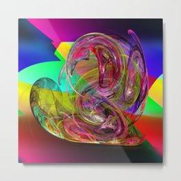 Snail's bag fraught colors ... Metal Print