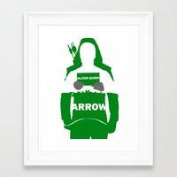 green arrow Framed Art Prints featuring Green Arrow by Sport_Designs