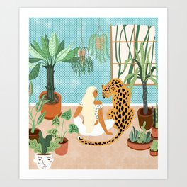 Urban Jungle #illustration #botanical Art Print