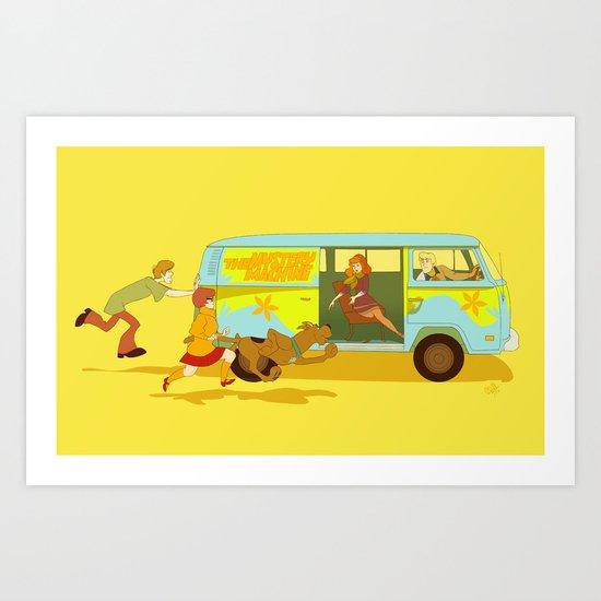 Little Mystery Machine Art Print