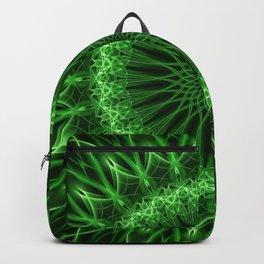 Glowing green mandala Backpack