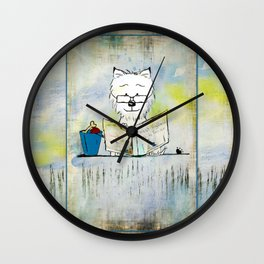 West Highland White Terrier ~ Westie ~ Sophisticated Wally ~ Ginkelmier Wall Clock