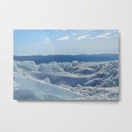 Pressure Ridges of Ice Lake Metal Print