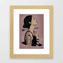 Amour silencio Framed Art Print