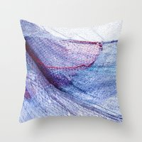 fishing Throw Pillows featuring fishing by Claudia Drossert