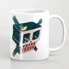 Brick Crossbones and a Bird Mug