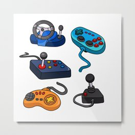 Video Game  Controls Metal Print