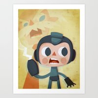 megaman Art Prints featuring Megaman by Peerro