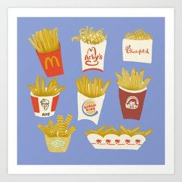 American French Fries Art Print