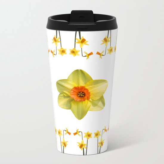 Daffodil Madness Metal Travel Mug