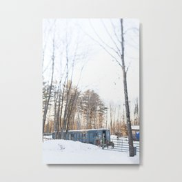 A Wintry Maine Farm Metal Print