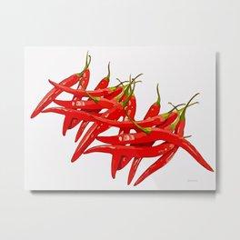 Red Hot Chili Metal Print