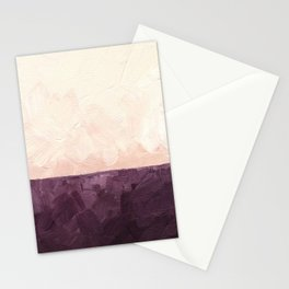 Landscape in Plum Stationery Cards