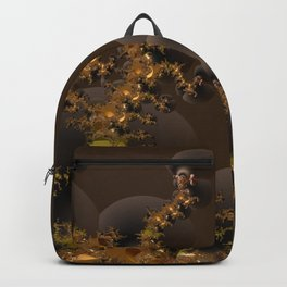 Organic Explosion of Chocolates - Fractal Golden Lava Backpack