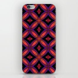 Red and Black Geometric Shapes iPhone Skin